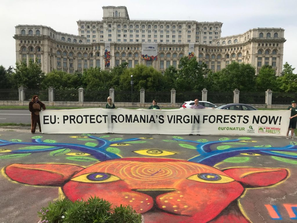 Protesting on the edge of Romania´s EU Presidency